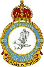420 Sqn RCAF roundel