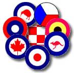 Roundels of nations represented