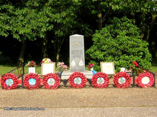 57 and 630 Sqn memorial at RAF East Kirkby