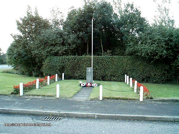 Memorial to 550 Squadron at the entrance to the industrial estate