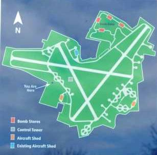 orientation map of the RAF Spilsby airfield site